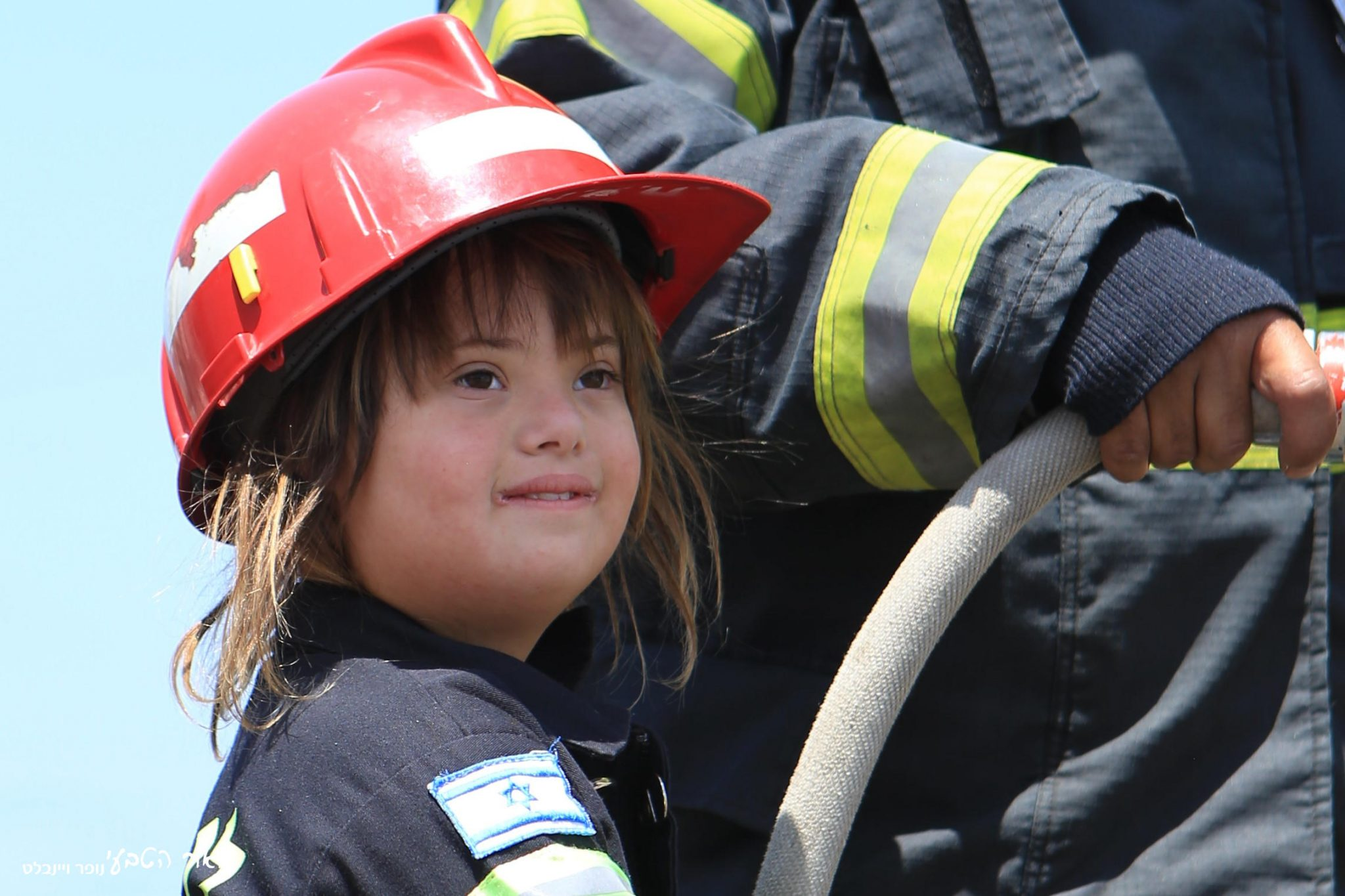 Shani , 7 — being a firefighter for a day