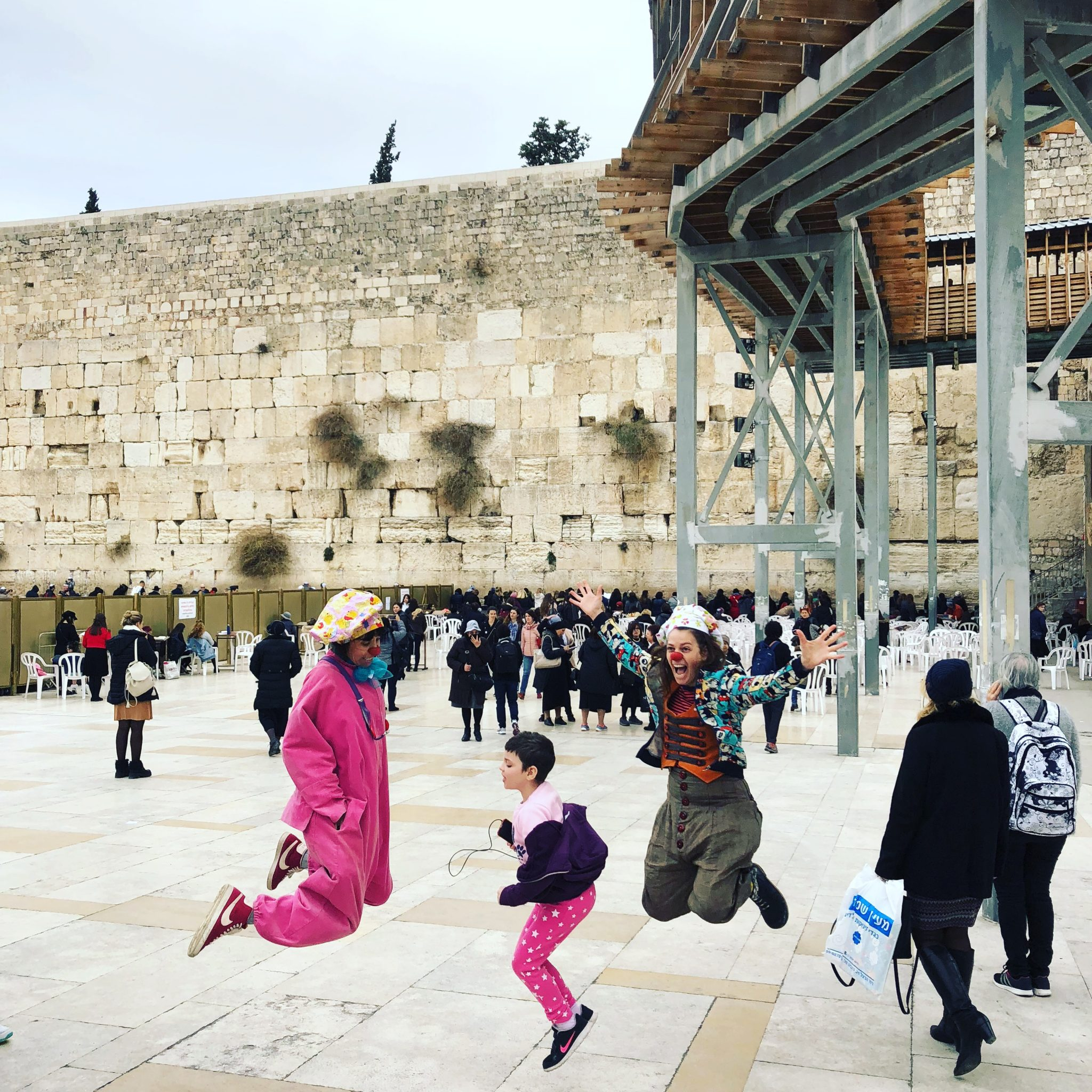 Shira, 8 — visiting the Western Wall