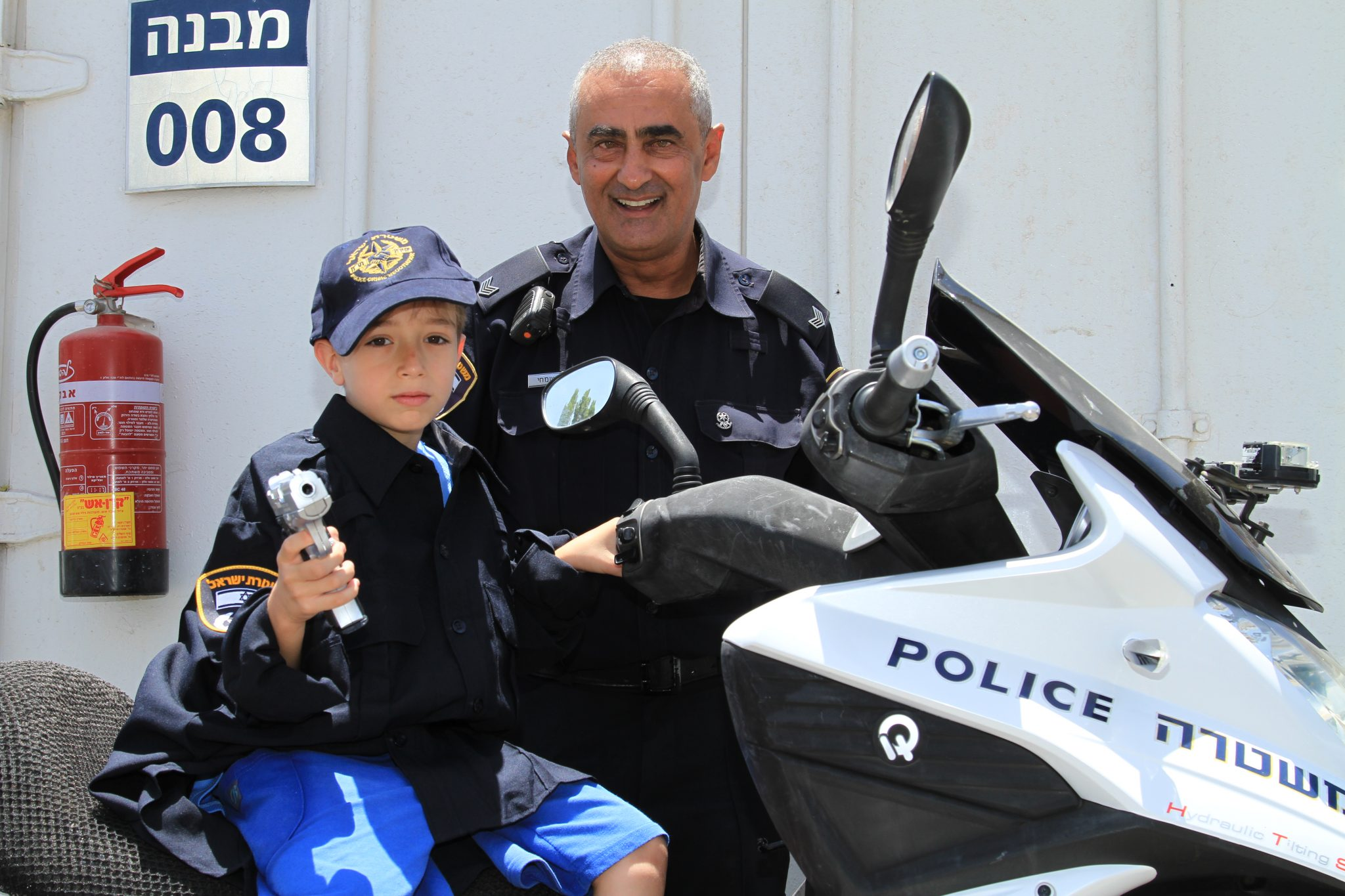 Eyal, 7 — being a policeman for a day