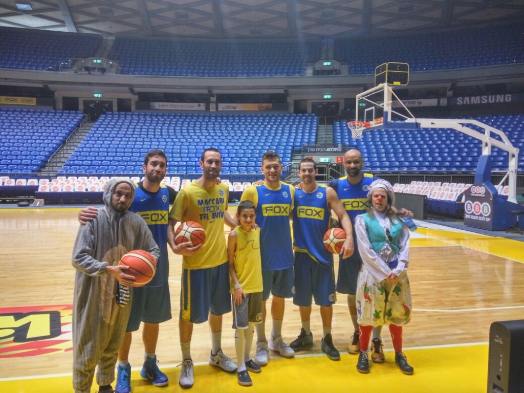 Daniel, 13 — playing basketball with the Maccabi Tel Aviv team